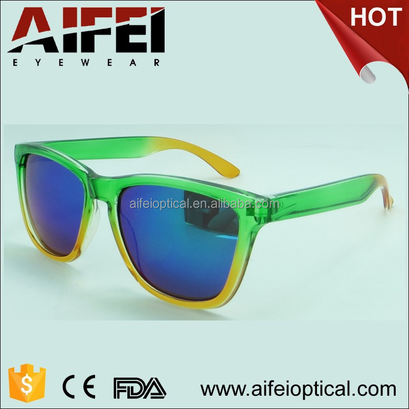 fashion mirror replica sunglasses custom logo multi color