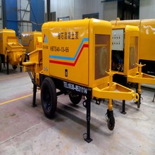 pumpcrete trailer machine, concrete conveyer pump with diesel engine, used for building construction with reasonable price