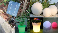 hanging 40cm 16 colors changing solar balls led for outdoor christmas decoration