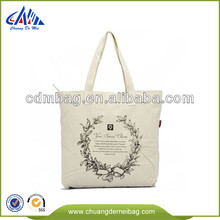 recycling cotton canvas bag with wooden handle