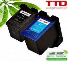 TTD Refurbished 21 22 Ink Cartridge C9351AA C9352AA for HP DeskJet 3910 3915 3930 3930V