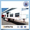 40tons 20ft 3 axles 12 wheels flatbed semi-trailer for sale