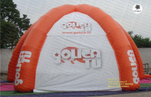 Custom red inflatable air camping spider tent