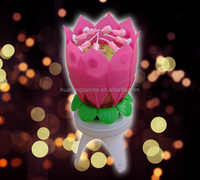 cheap flower birthday candle with music,sound candle for birthday (HUAMING manufacturer)