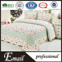 korean design natural fabric bedding set with flowers print