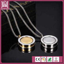 coin holder simple round jewelry pendant necklace