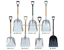 Aluminium shovel snow shovel with short handle for easy using