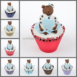 various colors Baby Shower cupcake wrappers Mery crafts decoration for catering