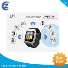 2014 hot sale new design manufacture android bluetooth u watch for cellphone by bluetooh smart bluetooth phone