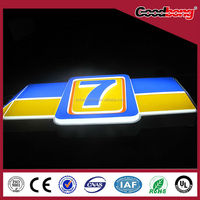 outdoor advertising plastic 3D sign board