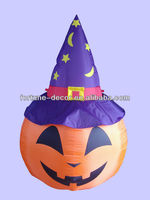 180cmH/6ft high Halloween inflatable pumpkin with hat