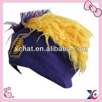 Fashion basketball fan fur pom hat