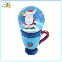 Custom gifts crafts creative christmas decor snow ball with cup base