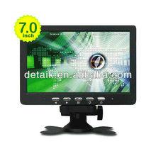 AV/VGA small 7inch touch screen LCD monitor