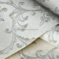 Levinger light grey wallpaper book print design wallpaper pvc deep embossed wallpaper