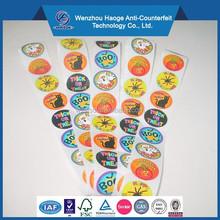 Printing adhesive round kids sticker vinyl sticker label halloween roll sticker