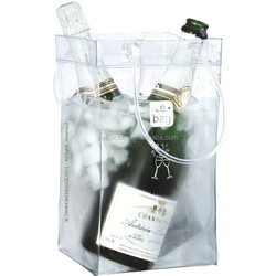 Easy to carry portable wine champagne ice bag