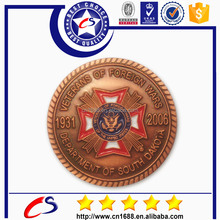 Professional manufacturer die casting 3D custom Zinc alloy military challenge coin for wars