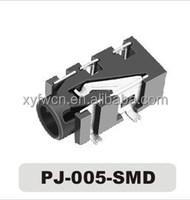 4 pin 3.5mm 4-pole jack audio socket / phone jack stereo smd