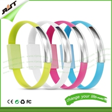 Newest!!portable ring design micro usb cable, colorful usb data cable for htc for iphone