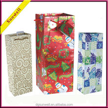 Dongguan strong gift bag package & rectangle handy shopping bag kraft paper bag manufacturers