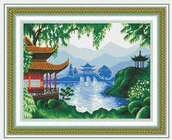 China famous garden 11ct embroidery manufacturer