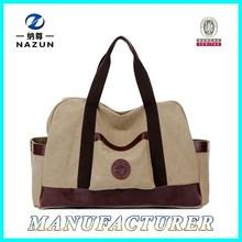 Factory Price Manufacturer Stylish Handbag 2015 Best Quality Leisure Travel Canvas Bag