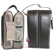 convenient leather wine glass carrier