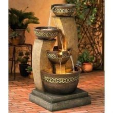 "24"" Outdoor Free Standing Home Resin Garden Fountain"
