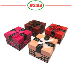 2016 various size small gift box, sweet style gift paper box, wedding box for gift