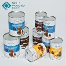 Hot Sale Custom Printed Coffee tin can Empty Coffee tin Cardboard Paper Coffee Cans