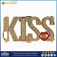 [GGIT] Special LOVE / KISS PC Case for iPhone 6 Plus with Diamonds