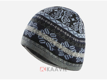 custom mens winter snowflake jacquard acrylic knitted beanie hat