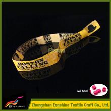 CMYK printed fabric hand band, heat transfer woven wristband, sublimation textile bracelet