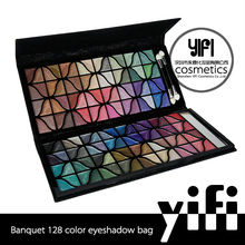 Glow in the dark eyeshadow 128color banquet arabic cosmetics make up eye shadow