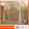 Portable pipe and drape curtain for event for wedding