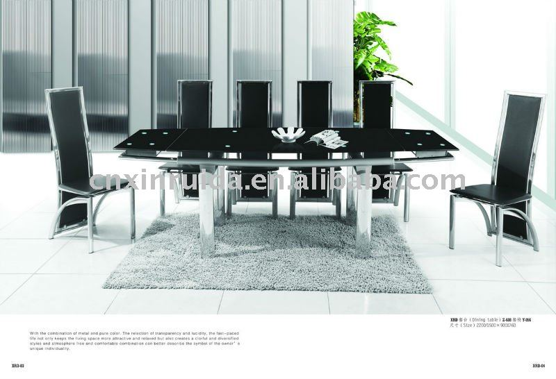Wholesale High Quality Extendable Tempered Glass Dining