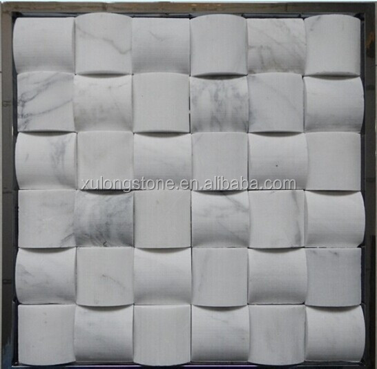 ... witte marmeren mozaïektegels/mozaïek glazen tegels voor keuken kast