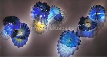 Modern hand blown glass wall decoration wholesale