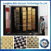 ceramic bathroom tiles gold ion sputtering machine/ ceramic cup/ plates pvd coating machine