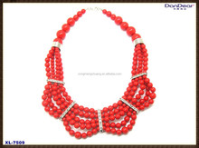 2015 Fashion Style Hot Selling Unique Beaded Collar Necklace With Collar For Women