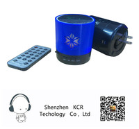 2015New product charging bluetooth speaker with led light Supports wireless charging head music mini speaker with remote