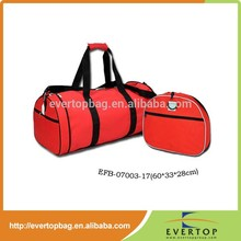 2015 best-selling good quality and fashion red fold up travel bag