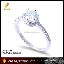 2015 fashion wedding ring DF120531 latest jewelry silver ring design diamond wedding rings