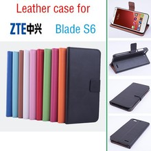 New Arrival Flip Leather Case for ZTE Blade S6 Mobile Phone L and R cover cases screen protector