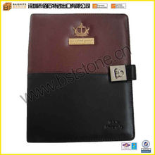 debossed business leather organizer, leather padfolio