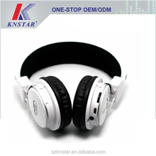 Best design Bluetooth pure stereo wireless headphone and music mp3 player with multifunction