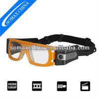 1080P Outdoor Sport Sunglasses Camera DVR 120 Degree Wide Angle