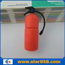 Fire extinguisher shaped design usb memory stick promotional,Rubber Fire Extinguisher Shape USB Flash Disk