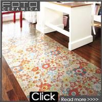 China foshan ceramic porcelain flower design floor tiles with pattern